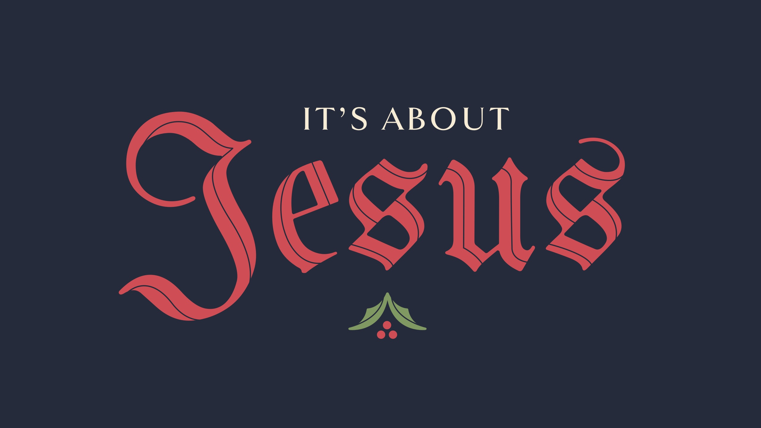 It's About Jesus